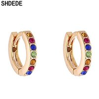 Wholesale jewelry for cocktail for sale - Group buy SHDEDE Crystal Small Hoop Earrings For Women Cocktail Party Fashion Jewelry Korea Trendy Accessories Gift