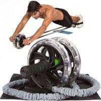 vücut çeker toptan satış-1 Adet / 60 cm Ab Rulo Tekerlek Çekme Halat Bel Karın Zayıflama Fitness Ekipmanları Vücut Geliştirme Egzersiz Direnç bantları Spor Bölüm