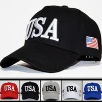 Wholesale girls birthday hats resale online - Trump Baseball Cap Women Girls Summer USA Designer Snapback Hat Embroidery Summer Sunshade Cap Birthday Gifts HH9