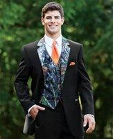 смокинг хвост оптовых-Сшитое на заказ жениха пика отворот жениха смокинги фрак на заказ мужские костюмы выпускного вечера лучший блейзер (куртка + жилет + брюки)