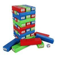 jogos empilhados venda por atacado-China Fornecedor Hot engraçado Popular Crianças Toy plástico colorido de mesa de plástico empilhamento jogo do cubo empilhamento de blocos para 2-4 jogadores meninas conjunto de jogos