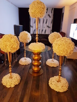Wholesale vase table decor for sale - Group buy m Tall New wedding column marriage stage decoration pillar metal gold centerpiece vases for table event party decor