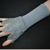 Women Girls Lace Cuffs Wrist False Sleeves Cuff Gloves Cover Sweater Decoration Accessories