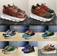 topuk spor ayakkabıları toptan satış-Zincir Reaksiyonu alt topuklu Sneakers Erkeklerde Erkek Lüks Tasarımcı Ayakkabı Kadın Dişiler Spor Eğitmenler ile Rahat Moda Ayakkabı Sneakers Toz ...