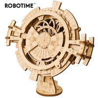 ahşap oyuncaklar toptan satış-Robotime Yaratıcı Diy Daimi Takvim Ahşap Model Oluşturma Setleri Montaj Oyuncak Hediye Çocuk Yetişkin Için Lk201 MX190731