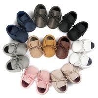 Wholesale baby moccasins girls online - Hot Baby Shoes New Autumn Spring Newborn Boys Girls Toddler Shoes PU Leather Baby Moccasins Sequin Casual Sneakers M S2