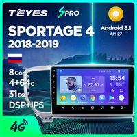 dvd gps radio ford mondeo al por mayor-TEYES SPRO para KIA Sportage 4 QL 2018 2019 Radio Car Multimedia Reproductor de vídeo de navegación GPS para Android 8.1 No se 2din 2 din dvd del coche dvd