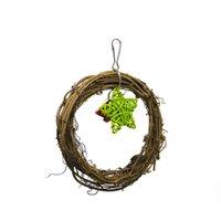 glockenpunkte groihandel-Toys Fünfzackiger Stern Small Bell Weihnachtsfest Papagei Vine Circle Swing
