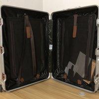 alüminyum taşıma toptan satış-Lüks Tasarımcı Çanta Bavul Alüminyum-magnezyum Alaşımlı 20 26 29 Inç Haddeleme Bagaj Tramvay Durumda Boeing 747-8 Hava Kutuları Bavul Üzerinde Taşımak