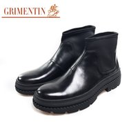 Wholesale business casual shoe sale for sale - Group buy GRIMENTIN Newest Fashion Brand Hot Sale Men Boots Black Slip On High Quality Men Genuine Leather Casual Boots For Formal Business Shoes