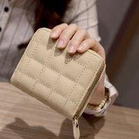 mini fermuar para çantaları toptan satış-Pop Kadın Moda Cüzdan Mini Kısa Fermuar Çanta Bayanlar Para Para Kart Sahibi Çanta Kız Mini Debriyaj Çanta