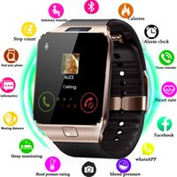 Wholesale dz09 smart watch online – Smart Watch DZ09 Smart Clock Support TF SIM Camera Men Women Sport Bluetooth Wristwatch for Samsung Huawei Xiaomi Android Phone