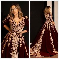 Wholesale dresses plus size long cinderella for sale - Group buy Vintage Cinderella Prom Dresses Long Sleeve Sweetheart Lace Burgundy Sweep Train A Line Evening Party Gowns Plus Size Customize