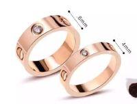 bagues de pouce unisexe achat en gros de-2019 Titane acier clous anneaux amateurs bande anneaux taille pour femmes et hommes marque bijoux NO boîte d'origine