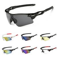 велосипедные очки оптовых-Спорт на открытом воздухе Велоспорт Солнцезащитные очки для Мужчин Женские Бег Вождение Рыбалка Гольф Бейсбол Очки Дизайнерские очки Велосипедные очки