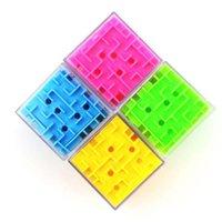 divertidos puzzles 3d al por mayor-2019 Cubo 3D Laberinto Juego de la caja de la caja del juego de la mano del juguete Divertido juego del cerebro Desafío Fidget Toys Balance Juguetes educativos para niños C53