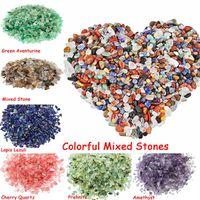 ingrosso casa di hobby-18 colori naturali di cristallo misto pietre tumbled chip di pietra frantumata guarigione di gioielli in cristallo decorazione della casa