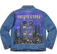 nova iorque streetwear venda por atacado-19SS New York camionista pintado Jacket Casaco de Ganga alta qualidade Highstreet Mulheres Moda e Mens Designer Jacket HFBYJK167