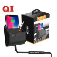 cargador de aire micro al por mayor-QI Car Wireless Charger Box Charging Pad Stand Air Vent Phone Holder para Apple iPhoen XS Max X XR 8 Plus Samsung S9 S8