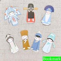 yer imi okuma toptan satış-7 Adet / takım Yaratıcı Peking Opera Imi papelaria bookmark boekenlegger Kitapları Okumak için Imleri Tutucu Okul Malzemeleri