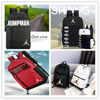 Wholesale outdoor bags resale online - NEW air jordam Sports Backpack for man women youth aj bags Unisex Backpacks Travel Outdoor Knapsack Portable Travelling Bags