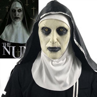 Wholesale horror demon mask for sale - Group buy Halloween The Nun Horror Mask Cosplay Valak Scary Latex Masks Full Face Helmet Demon Halloween Party Costume Props New Style