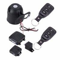 auto sirenes de alarme venda por atacado-Alarma Auto Carro Assaltante Alarme Proteção Anti-roubo Dispositivo de Automóveis Sistema de Segurança de Entrada Sem Chave com 2 Controle Remoto