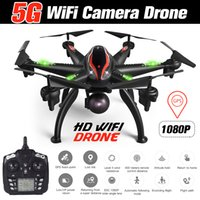 Wholesale rc gyro camera for sale - Group buy RC Drone GPS G WiFi P Camera Drone Smart Follow Mode Axis Gyro Quadcopter Professional G WiFi Drone Aerial Photography MX191220