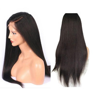 Wholesale long real human hair wigs resale online - Full Lace Free Part Real Natural Long Human Hair Wig For Black Women Remy Brazilian Invisible Pre Plucked With Baby Hair