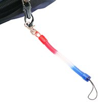 Wholesale springing key chains for sale - Group buy Plastic Spring Key Chain Mobile Phone Chain Retractable Telephone Cord Keychain Tool Elastic Rope Spring Rope