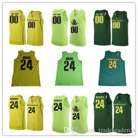 ingrosso il numero di mele-Custom Mens Oregon Ducks College Basketball apple Dark Green yellow Personalized Stitched Any Name Any Number customized #24 Jerseys S-3XL