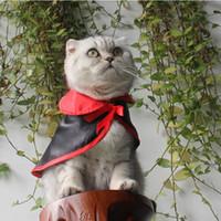 ingrosso sciarpa di nozze del cane-Raffreddare Black Cat Dog Costume di Halloween Cosplay Mantella Scialli Capo Sciarpa calda Festa di nozze Regalo di compleanno Forniture per animali