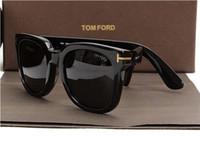 Wholesale printed eyewear for sale - Group buy luxury top big qualtiy New Fashion Tom Brown Sunglasses For Man Woman Erika Eyewear ford Designer Brand Sun Glasses with original box