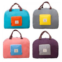 Wholesale travel handbags for sale - 4styles Foldable Tote travel outdoor bag storage bag handbag Folding Shopper Bag women girls pouch Organizer toiletry kits FFA1487