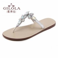 femmes meilleures spartiates achat en gros de-femmes sandales strass gladiateur sexy dames sandales plates cristal femmes chaussures d'été femme slip on best quality # Y0731865G