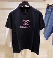 niedliche hemddrucke großhandel-Neues Druck-Frauen-T-Shirt 2018 Art- und Weisesommer-neues dünnes Sitz-nettes Karikatur-T-Shirt Femme T-Shirt C3Chanel
