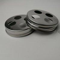 ingrosso portabiti in acciaio inox-Acciaio inossidabile regolare Bocca Spazzolino Holder Coperchio per Masons Vasi (Jar non incluso)