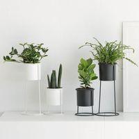ingrosso piante in vaso in vaso-Nordic Ins Iron Vasi per piante Vasi di fiori Vaso di cactus Soggiorno Decorazione del desktop Ornamenti piccoli Puntelli Foto Accessori per complementi d'arredo