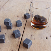 12pc 100% Natural Whiskey Stones Sipping Ice Cubes Whisky Stone Whisky Rock Cooler Wedding Gift Favor Christmas Bar Tools