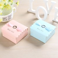 Wholesale first communion gifts for sale - Group buy 200pcs First Communion Boy Girl Candy Boxes for Christening Baby Shower Birthday Event Party Supplies Wrap Holders with Ribbon