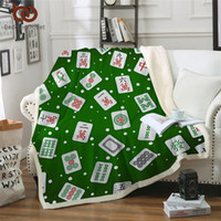 Wholesale hand games resale online - BeddingOutlet Sherpa Fleece Blanket Mahjong Bed Blanket for Adults D Games Soft Fluffy Characters Green Plush Bedding