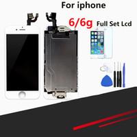 iphone kamera düğmeleri toptan satış-Üstün Kaliteli LCD iPhone 6 Için Tam LCD Ekran Değiştirme Ekran Meclisi ile Ev Düğmesi ve Kamera