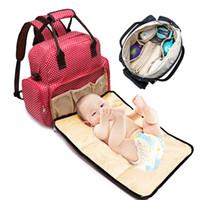 ingrosso polka dot bag viaggio-Mommy Bags Polka Dot Mother handbag Multifunzione Pannolini Maternity Zaini Outdoor Borse da viaggio infermieristiche ad alta capacità dot stampa tote B11