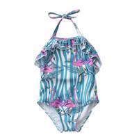 strand mädchen 12 jahre großhandel-Neugeborene Baby-Badebekleidungs-Blumen-Kind-Badeanzug-Einteiler-Sommer-Strand-Kleidung-Sonnenschutz für Mädchen 1-4 Jahre
