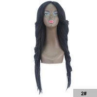Wholesale ombre hair for black woman for sale - Group buy Cheap Ombre Wigs Blonde Body Wave Hair Wigs Blue High Quality Heat Resistant Synthetic Straight Lace Wigs for Black Women