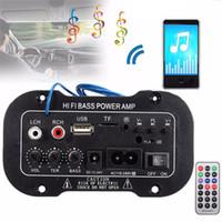 Wholesale power bass subwoofer resale online - Auto Radio Car din Audio subwoofer stereo bluetooth Bluetooth Hi Fi Bass Power AMP Digital USB TF Remote Control