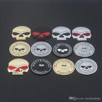 ingrosso adesivi auto modificati-Dell'automobile di personalità cranio del metallo Logo Sticker Modificato coda in lega di zinco Skull Adesivi Car Body Sticker Badge adesivi contenenti Harley Logo