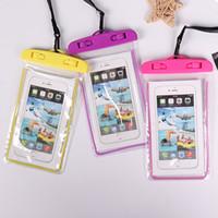 bolsa de fotos a prueba de agua al por mayor-Teléfono móvil bolsa impermeable pvc buceo conjunto natación foto pantalla táctil cubierta impermeable