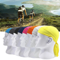 Wholesale running hats men resale online - Bike Pirate cycling Scarf Sports Hat Headband Outdoor Riding Cycling Quick Dry Headscarf Men Summer Running Riding Headscarf FFA287 Bandanas