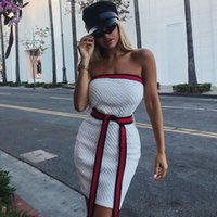 Wholesale ladies cap style for sale - Group buy Fahion Strapless Off Shoulder Mini Summer Backless Fold Sexy Party Dress Women Short Beach Ladies Casual Dresse Q190525